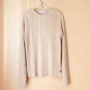 Calvin Klein Jeans beige crew neck sweater
